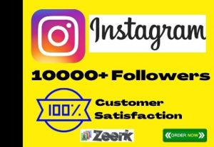 I Will Add 10000+ Instagram Followers Instant, No-Drop, Active User And Lifetime Guaranteed