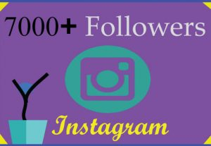 I will grow 7000 Instagram followers with 100% Non Drop guaranteed & Real High Quality