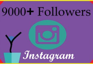 I will grow 9000 Instagram followers with 100% Non Drop guaranteed & Real High Quality