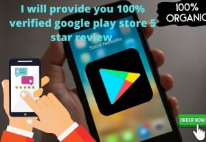 I will provide you google play store Five star 10 review
