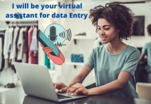 I will be your virtual assistant for data entry