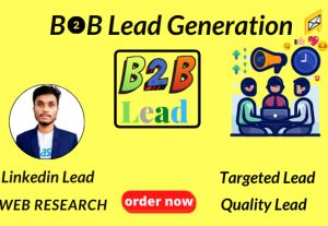 I will do quality targeted b2b lead generation for your business