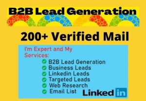 I will provide targeted b2b lead generation from LinkedIn and web research (200+ Leads)