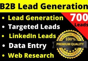 I will provide you 700 real and fresh leads