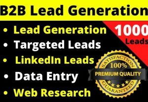 You will get 1000 fresh  and active leads