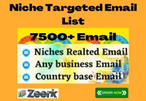 I Will Collect Niche Targeted Email List (7500+Bulk Email)