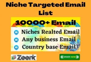 I Will Collect Niche Targeted Email List (10000+Bulk Email)