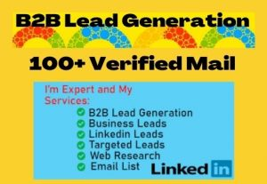 I will provide targeted b2b lead generation from LinkedIn and web research (100+ Leads)