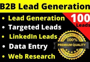 I will provide you 100 B2B Leads for your business