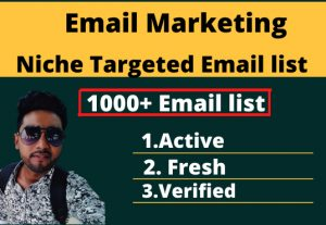 I will provide a 1000 email list for any industry & niche.