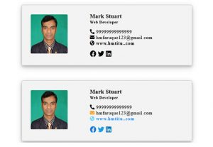 I can design an editable clickable html email signature