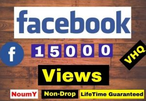 Get Instant 15,000+ Facebook Video Views, Real, Non-Drop, Lifetime permanent