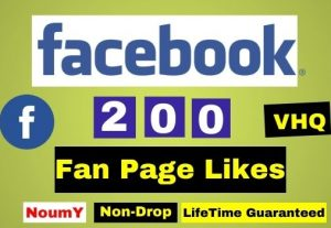 Get VHQ Instant 200+ Facebook Page Like, Real, Non-Drop, Lifetime permanent