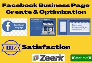 I will create a design and development Facebook business page