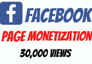 Facebook Page Monetization Video Views 30,000
