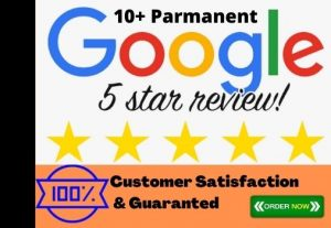 I Will Give You Excellent  5 Star 10 Permanent Google Review