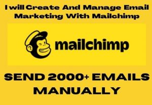 I will Create And Manage Email Marketing With Mailchimp