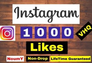 Get Instant 1000+ Instagram Post Likes-VHQ, Real, Non-Drop, Lifetime permanent