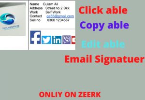 I will Create Clickable Email Signatuer
