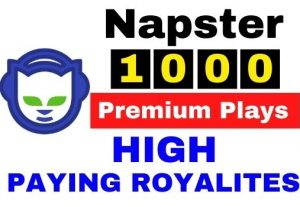 Get 1000+ Napster Music Premium Plays,High Quality Service,High paying Royalties
