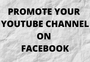 I will facebook marketing to promote your youtube channel