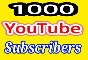 Get 1000 High Quality YouTube Subscribers fast