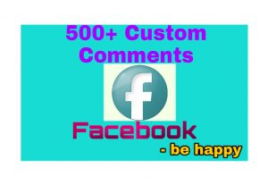 500+ Organic Custom Comments Add Your Facebook Post and Become Popular on Facebook