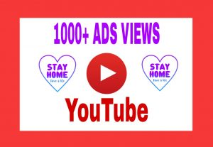 Add 1000+ Organic and Non Drop ADD VIEWS on Your YouTube Post