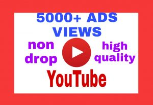 Add 5000+ Organic and Non Drop ADD VIEWS on Your YouTube Post