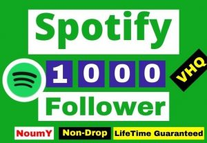 Get Instant, Non-Drop VHQ 1000 + Spotify Followers ,100% Real, , Lifetime permanent