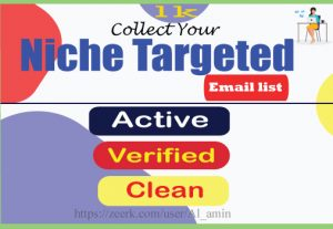 I will collect 1000 niche targeted email list