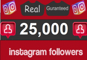 i will Add 25K Instagram Follower , REAL WITH lifetime GUARANTEED-instant start