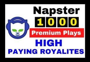 Get 1000+ Napster Premium Plays ( HIGH PAYING ROYALTIES)