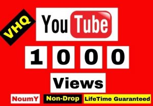 Get Instant, Non-Drop VHQ 1000 + YouTube Video Views ,100% Real, , Lifetime permanent