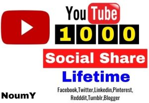 Get 1000+ YouTube Real Social Share,High Quality Service, non drop, lifetime guarantee