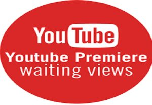 1000 Youtube Premiere Waiting Views for 3$