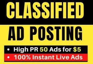 I will post your ads on top rank classified ad posting sites