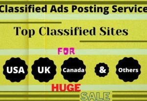 I will post free classified ads manually