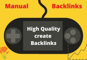 I will provide high-quality manual backlinks
