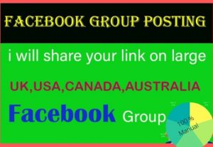 I will do facebook promotion your any business link on facebook group
