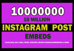 10 Million Instagram Post Embeds