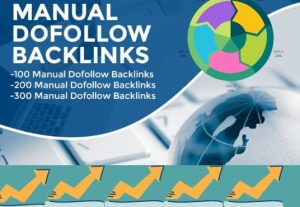 I will create manual dofollow backlinks for you