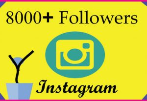 I will grow 8000 Instagram followers with 100% Non Drop guaranteed & Real High Quality