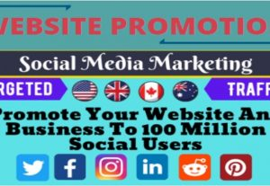 I will promote website, product marketing, or link promotion on social media