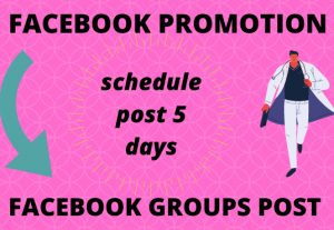 I can facebook groups post in schedule 5 days work