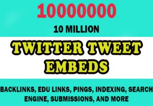 10 Million Twitter Tweet Embeds
