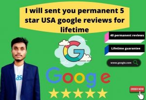 I will sent you daily organic 5 star USA 1 google reviews 1 week continuously
