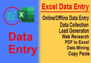 BE YOUR VIRTUAL ASSISTANT TO WEB RESEARCH DATA ENTRY