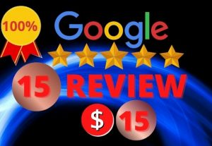 I will provide you 15 permanent and real google review