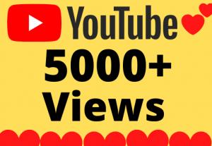 I will Add 5000+ HQ & Non Drop YOUTUBE views